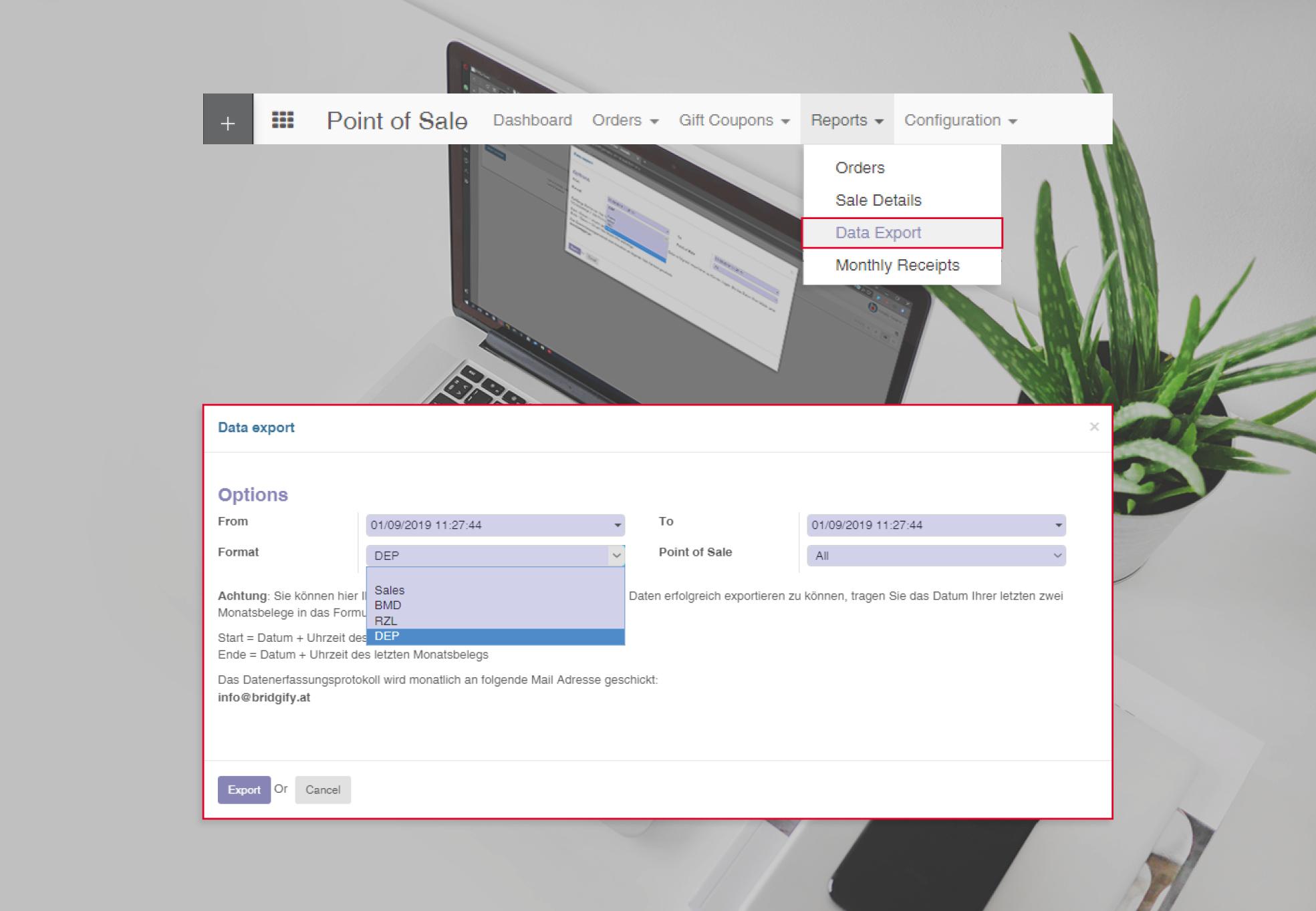 Bad Schnittstelle integration registrierkassa